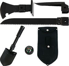 Black 5-In-1 Multi Purpose Military Tool Set