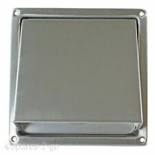 Stainless Steel Wall Air Vent Cowled Hooded Extractor Outlet Non Return Flap 4""