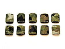 "1"" Mil-spec Elastic Webbing Strap Keepers - MultiCam - 10 Pack"