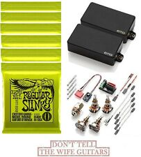 EMG ZAKK WYLDE 81 + 85 BLACK ZW SET ( 6 ERNIE BALL #2221 10-46 STRING SETS )