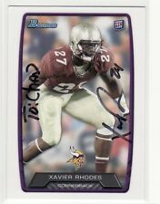 XAVIER RHODES FLORIDA STATE UNIVERSITY PERSONALIZED  AUTOGRAPHED CARD