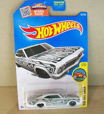 HOT WHEELS  HW ART CARS, '65 CHEVY IMPALA IN WHITE AND BLACK #1/10 OR 191/250