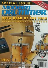 Modern Drummer July 2016 Gear of the Year Special Drums Cymbals FREE SHIPPING sb