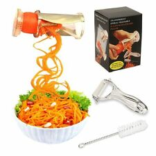 Spiral Slicer Fruit Vegetable Cutter Tools Kitchen Shred Sharp Stainless Blades