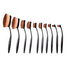 10Pcs Zahnbürste Oval Pinsel Makeup Brush Kosmetik Brushes Schminkpinsel Set