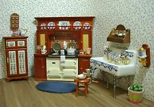 Amanda's Decorated Victorian Kitchen Dollhouse Miniature Furniture