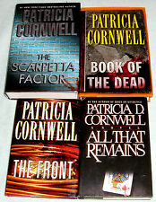Lot of 4 Mystery Books by Patricia Cornwell~Book of The Dead~All That Remains