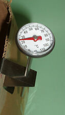 Bimetall Fleischthermometer,Teethermometer Bratenthermometer mit Edelstahlfühler