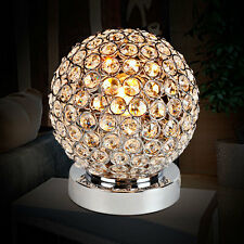 Modern Chrome Crystal Ball Table Lamp Bedroom Light Bedside Lamp