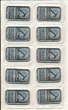 1 oz Pan American Silver Bars (.999 Pure) - Sealed Sheet of 10 Bars - U.S. Made