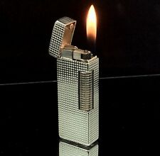 1969 dunhill Rollagas Silver Hobnail model Lighter - SERVICED & Guaranteed