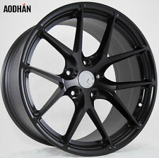 18X8 +35 AodHan LS007 5X100 Black Wheel Fits Dodge Neon Srt4 Forester Outback