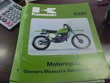 Kawasaki KX 80 A-1 Owner's Manual & Service Manual