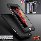 Hybrid 360° Tempered Glass + Acrylic Hard Case Cover For iPhone 6 6s Plus SE 5s