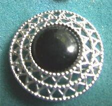 """JET SET"" Pin - Black Onyx Type Stone - Sarah Coventry Jewelry - Sara Cov - Vtg"
