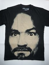 CHARLES MANSON Small T-Shirt Serial Killer Murder Helter Skelter Psycho Cult