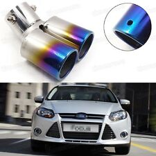 Car Exhaust Muffler Tip Tail Pipe End Trim Blue for Ford Focus 2011-2016 #1020
