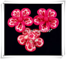 5/20 colorful polymer clay flower FIMO beads jewelry Making design 25mm 7 Color