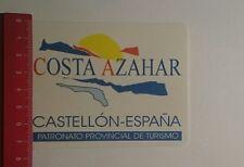 Aufkleber/Sticker: Costa Azahar Castellón España (05121657)
