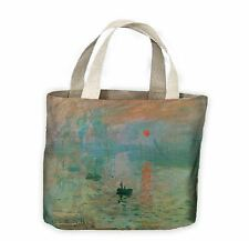 Claude Monet Impression Sunrise Tote Shopping Bag For Life