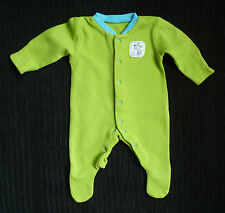 Baby clothes BOY premature/small 7lbs/3.2kg TU bright green/turquoise babygrow