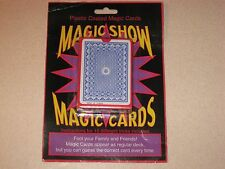New in Package Plastic Coated Magic Show Magic Playing Cards Card Deck Tricks