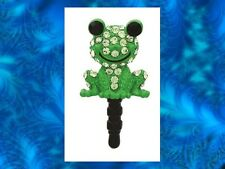 GREEN FROG Earphone Jack Dust Plug Cover Stopper Cell phone Iphone Android NEW
