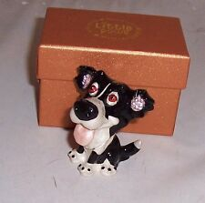 LITTLE PAWS Miniatures - figurine boxes Gyp the Border Collie