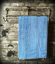 New Towel Rail Bathroom Vintage Style Iron Industrial Wall Mounted Holder