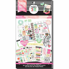 MAMBI Create 365 The Happy Planner  WATERCOLOR  Life Value Stickers 1078 pieces