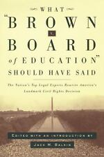 What Brown v. Board of Education Should Have Said: The Nation's Top Le-ExLibrary