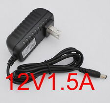 AC Converter Adapter DC 12V 1.5A Power Supply Charger US 5.5mm x 2.1mm 1500mA