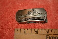 Vintage Solid Brass Military Belt Buckle USS Richard E Bryd Dog 23 & Image