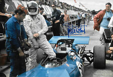 Jackie Stewart SIGNED 12x8 F1 Matra MS84 4WD , British GP 1969 , Practice Only
