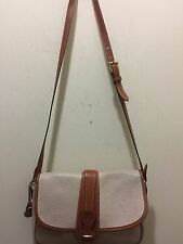 Dooney & Bourke Vintage Shoulder Bag Beige & British Tan
