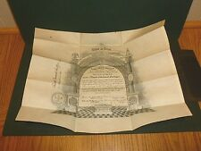 1926 33rd Masonic Supreme Council Scottish Rite Certificate with Leather Wallet