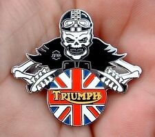 NEW MOTORCYCLE BADGE TRIUMPH CAFE RACER 60S 70S ACE ROCKERS BONNEVILLE TRIDENT 1