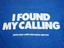 Vintage I Found My Calling Long Distance Calls Funny Paper Thin Soft T Shirt S