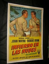 ARGENTINA ORIGINAL JOHN WAYNE FLYING LEATHERNECKS Linen Backed