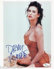 Demi Moore RARE early hand SIGNED sexy young see-through photo JSA COA Full Name