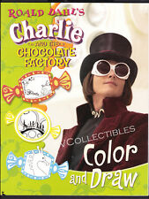 Color Draw Book~ CHARLIE AND THE CHOCOLATE FACTORY ~Johnny Depp~Freddie Highmore