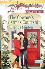 Harlequin Love Inspired The Cowboy's Christmas Courtship  (Minton Larger Type)