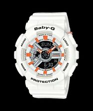 BA-110PP-7A2 White Baby-G Ladies Watches Resin Band New