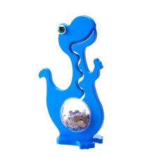 Big Belly Bank Kugelbahn Spardose DINO einfarbig blau / 50cm
