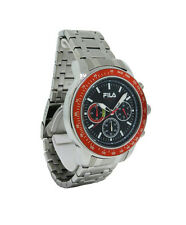 Fila FA0783-24 Cortina Men's Round Stainless Steel Black Chronograph Watch