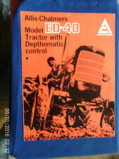 ALLIS-CHALMERS MODEL ED-40 TRACTOR SALES BROCHURE