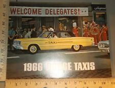 1966 Dodge Taxis Brochure Folder