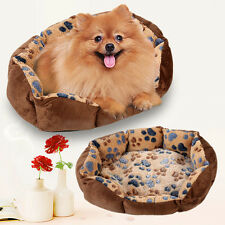 Pet Dog Puppy Cat Bed Soft Fleece Warm House Cushion Nest Mat Kennel Blanket NEW