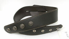 Men's Or Women's 2-PANEL LEATHER BELT Dark Brown Size 32 NEW
