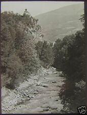 Glass Magic Lantern Slide MOUNTAIN RIVER C1920 PHOTO NORTHERN ITALY ? NO15